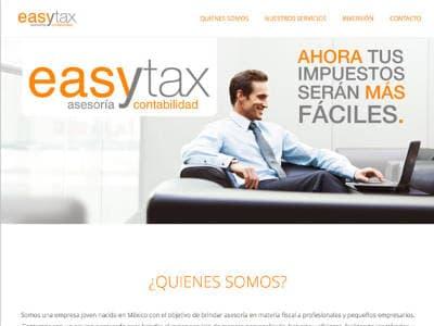 Ejemplo diseño web Easy tax: rdmproductora.com/portfolio/easytax