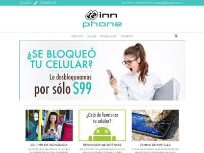 Ejemplo diseño web: rdmproductora.com/portfolio/innphone/
