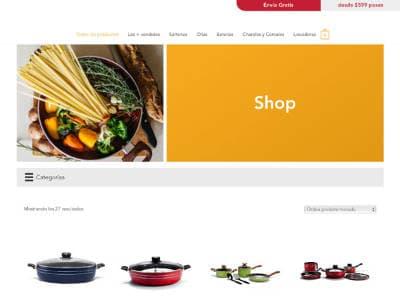 Ejemplo diseño web Lamex Shop: lamex.com.mx/shop/