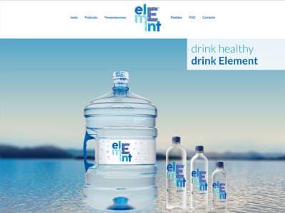 Ejemplo diseño web aguaelement.mx