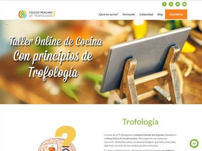Ejemplo diseño web trofologiamexico.info