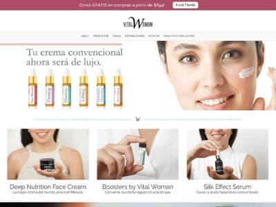 Ejemplo diseño web vitalwoman.mx