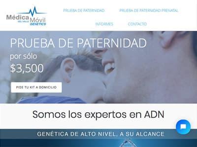 Ejemplo diseño web: pruebadeadn.mx