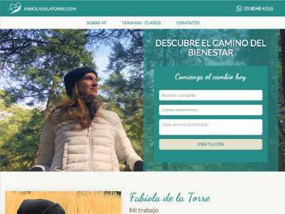 Ejemplo diseño web de Fabiola de la Torre