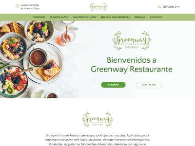 Ejemplo diseño web de greenwayfood.com.mx